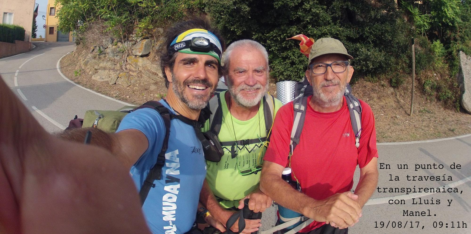 Angel, Lluis y Manel, en algún lugar del GR11