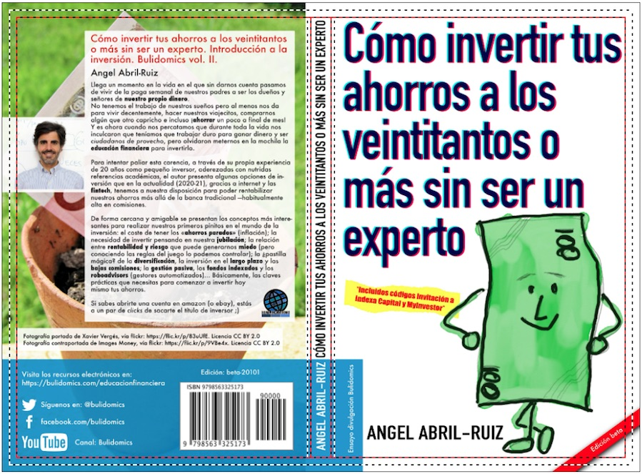 Cubierta del libro «Cómo invertir tus ahorros a los veintitantos o más» (edición beta-201011)