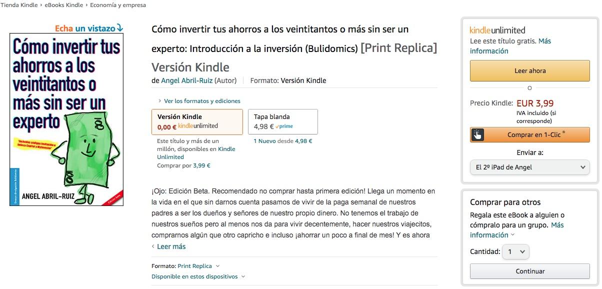 Cómo invertir tus ahorros a los veintitantos o más sin ser un experto - Edición Kindle amazon